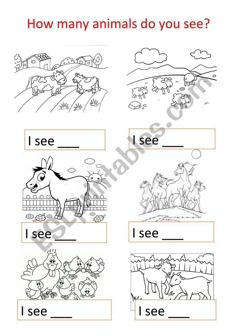 Animal farms worksheet