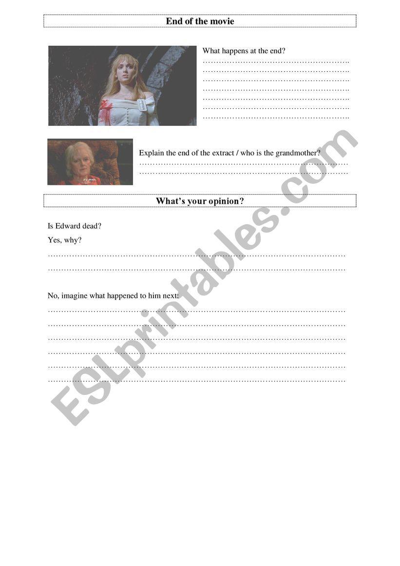 Edward Scissorhands  (3) worksheet