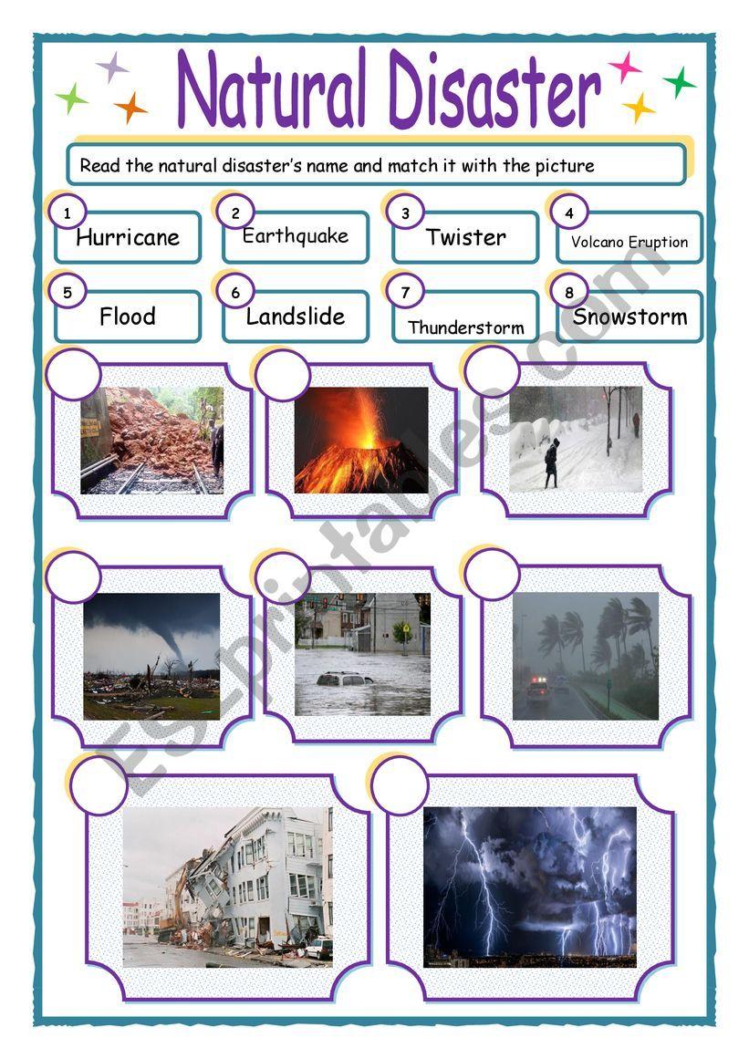 Natural DIsasters worksheet