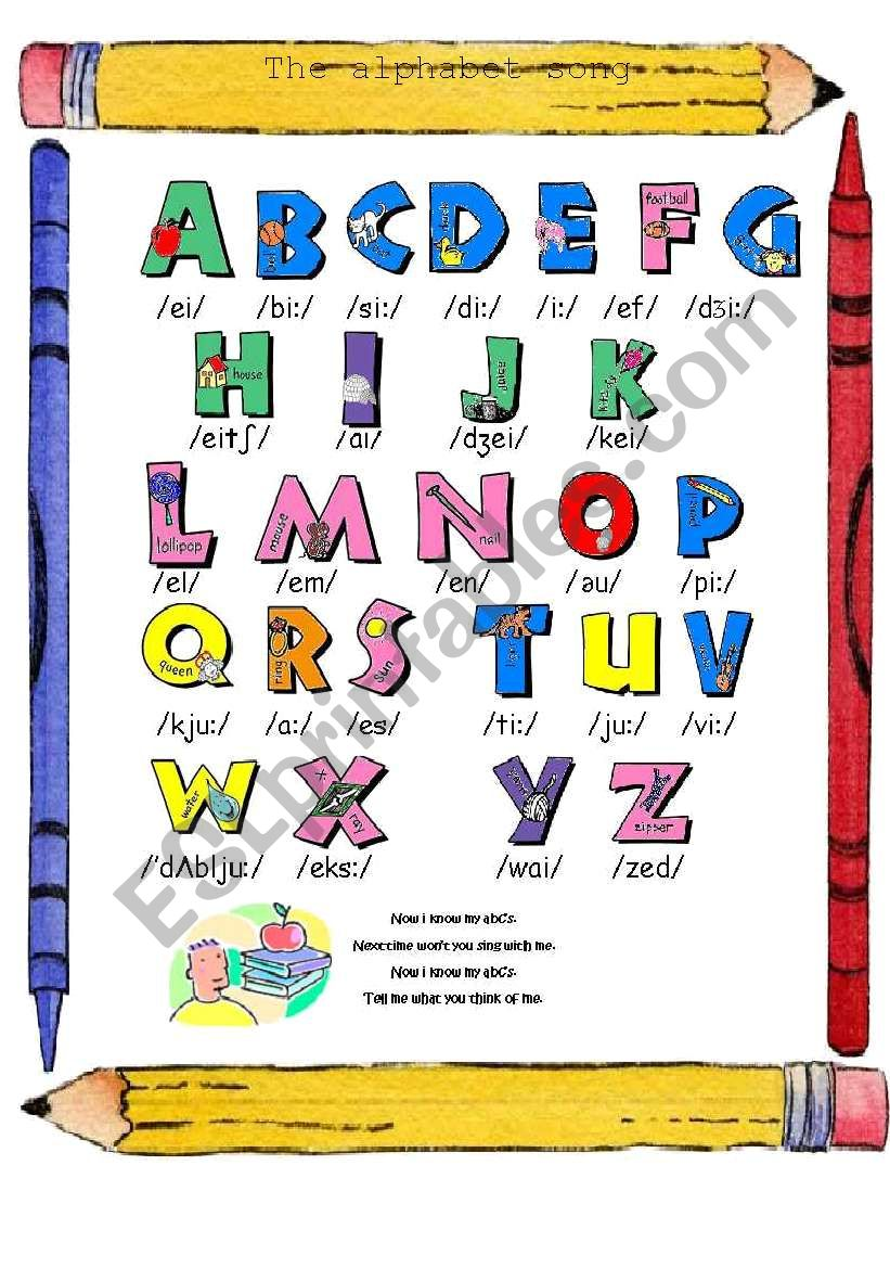 The Alphabet song (in colours)