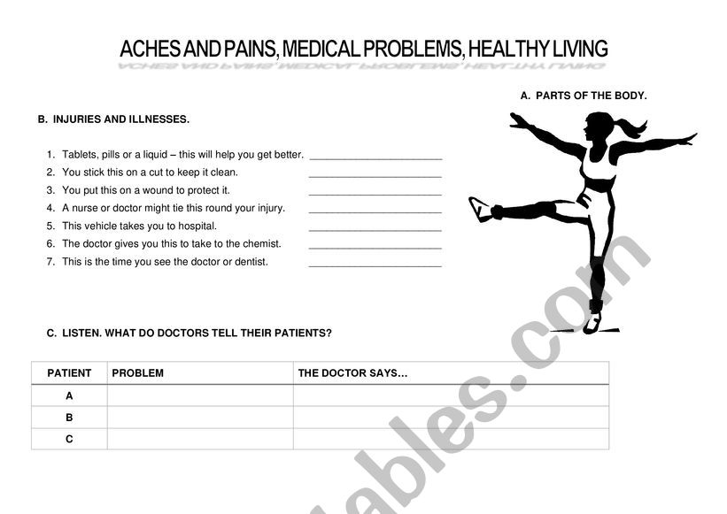 Health and fitness worksheet