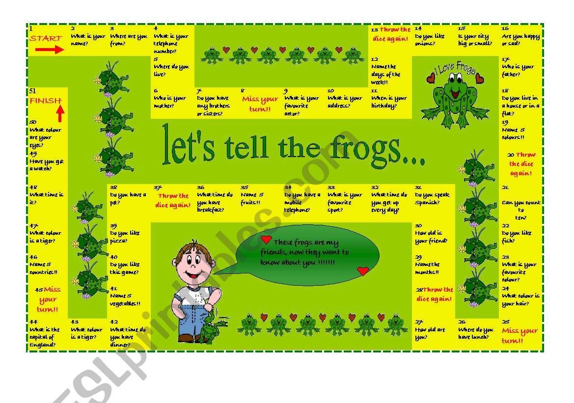 Elementary Boardgame worksheet