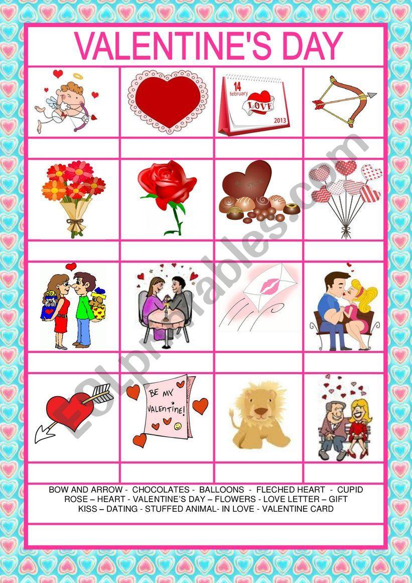 Valentine�s Day worksheet