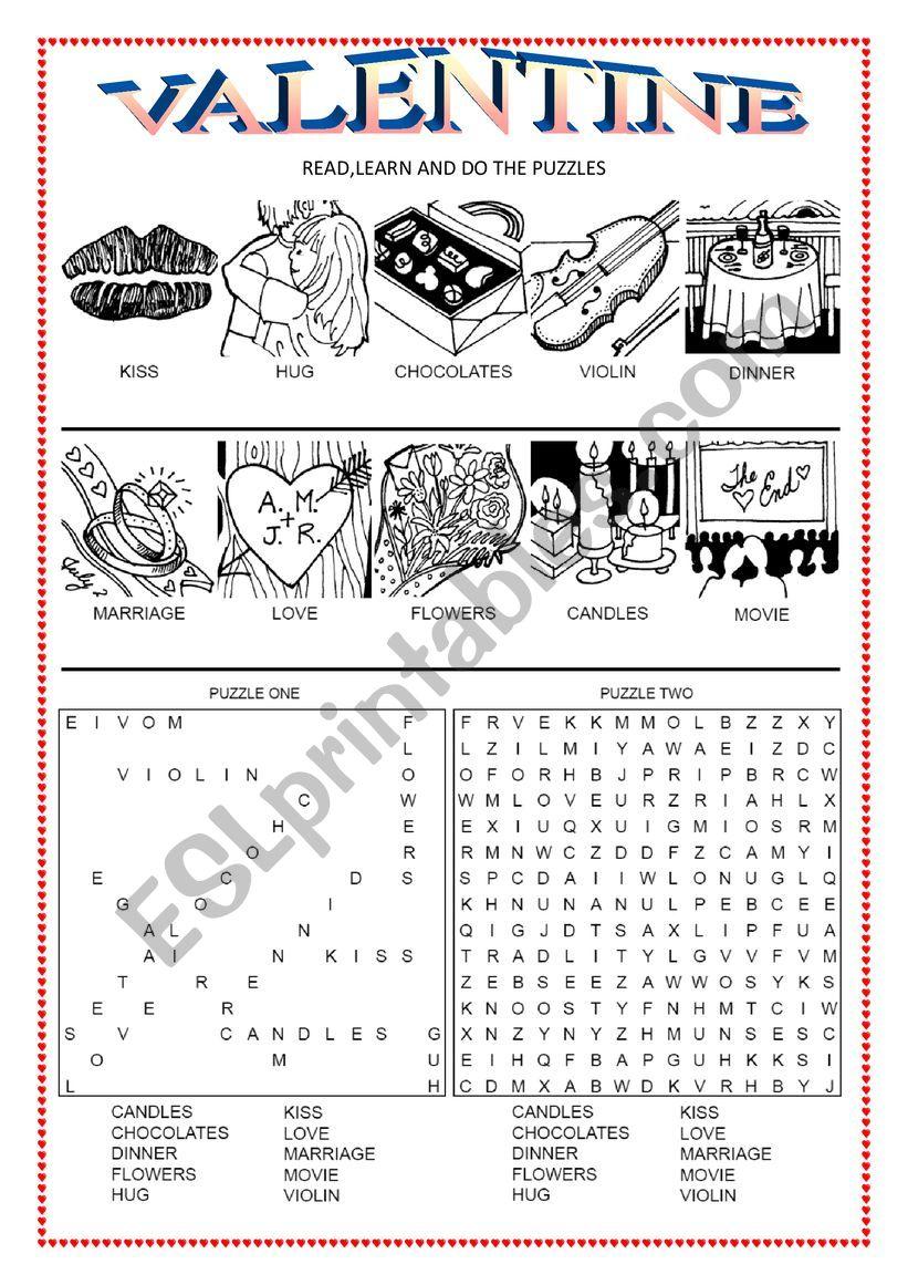 Valentine worksheet