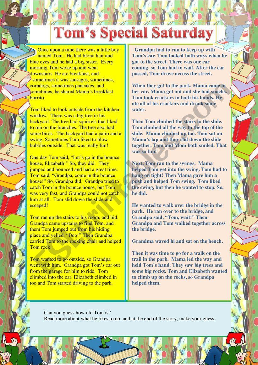 Tom�s Special Saturday worksheet