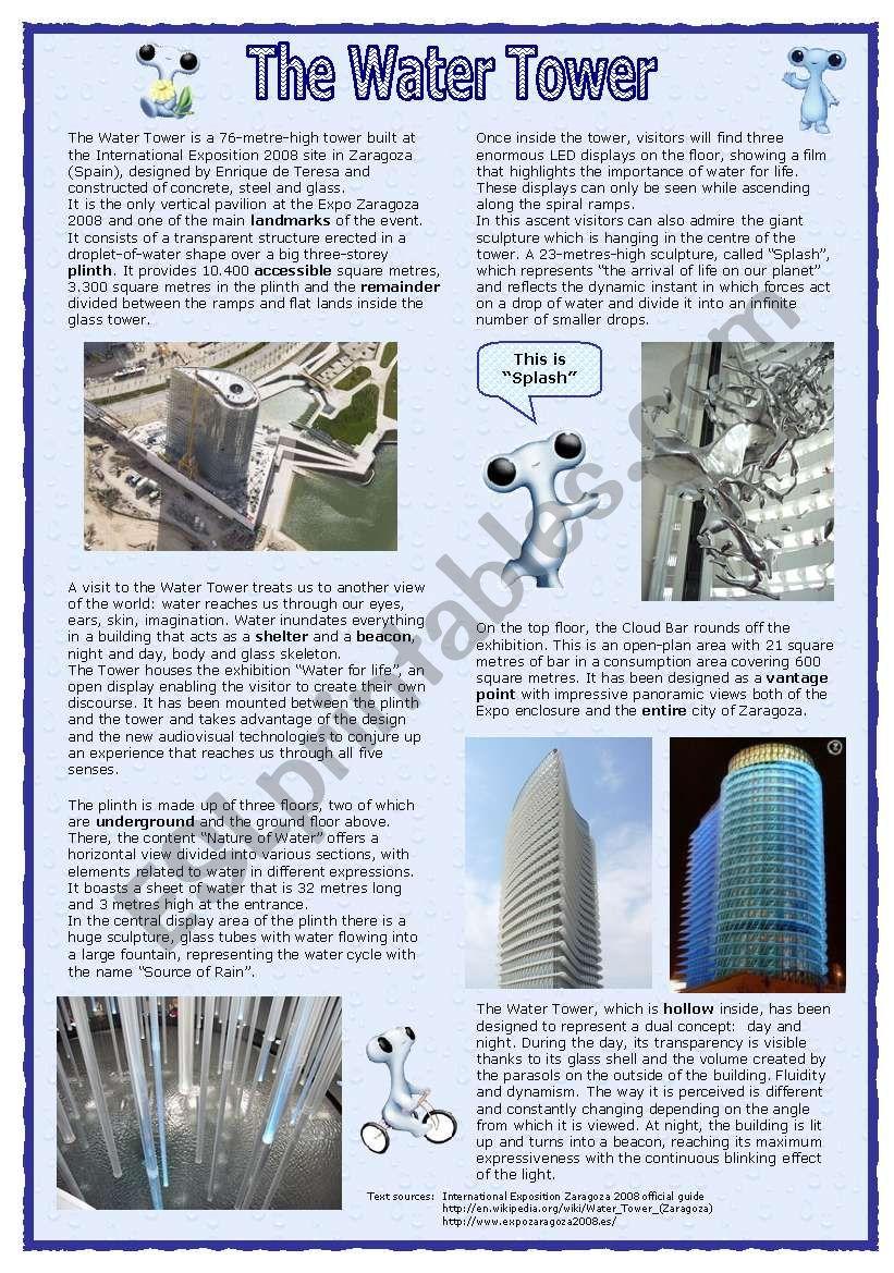 The Water Tower (27.08.08) worksheet