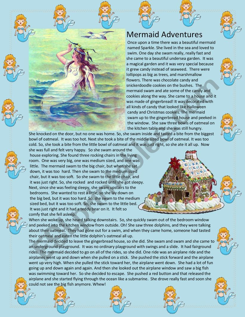 Mermaid Adventures worksheet