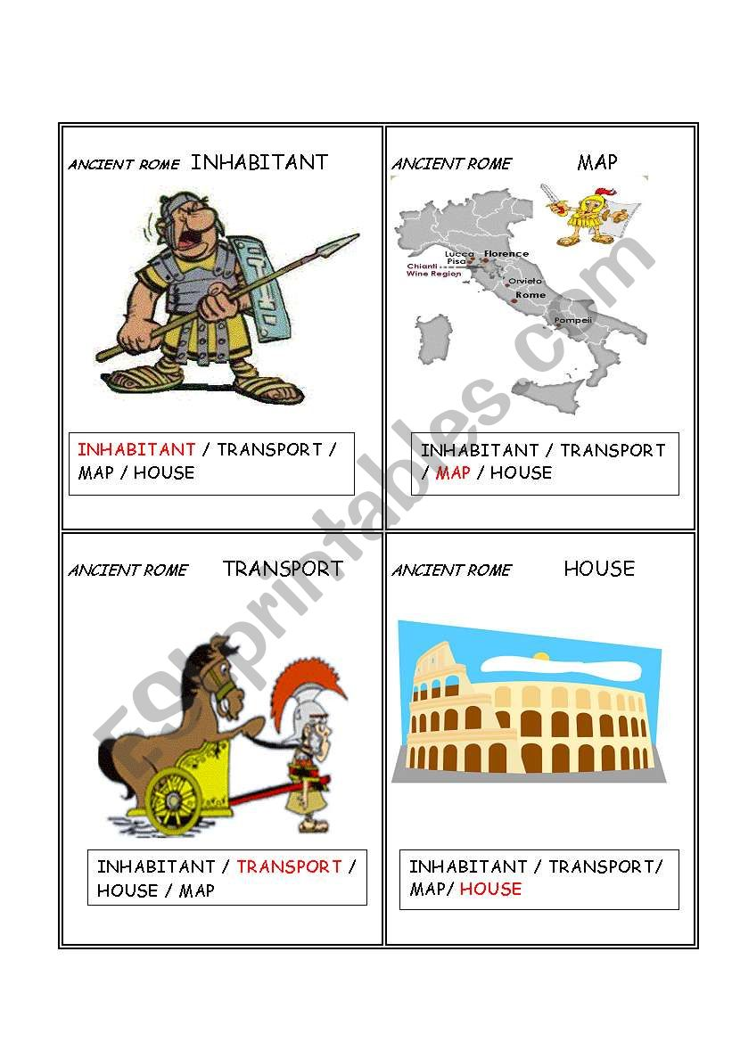Ancient civilizations ROME   Set  2/  5