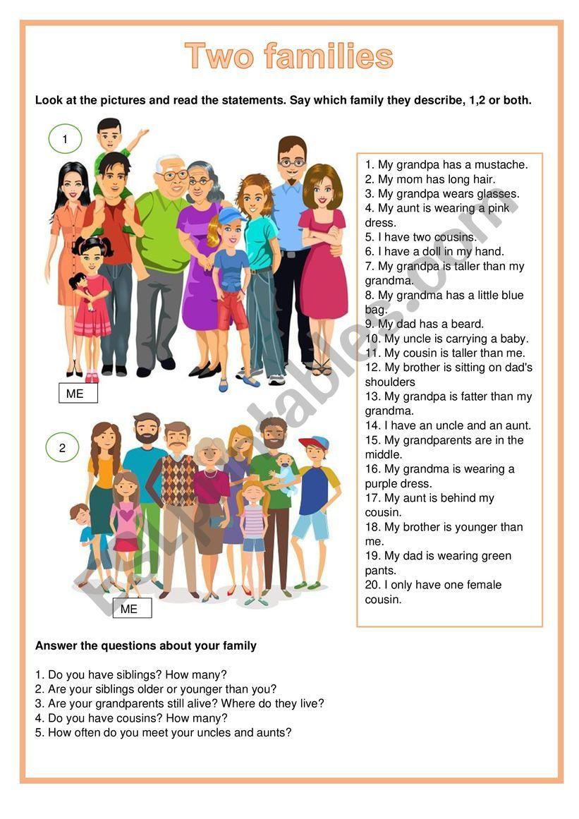 Picture description - Two families
