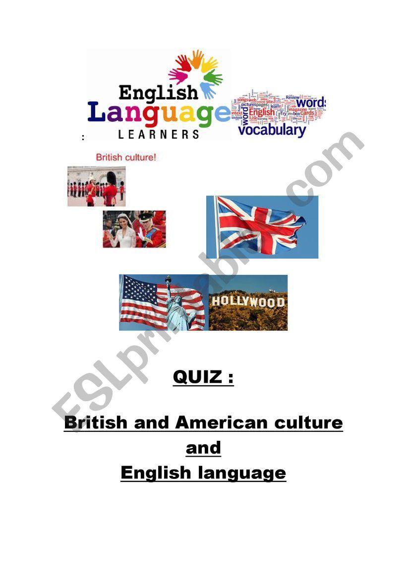 QUIZ BRITISH AND AMERICAN CULTURE