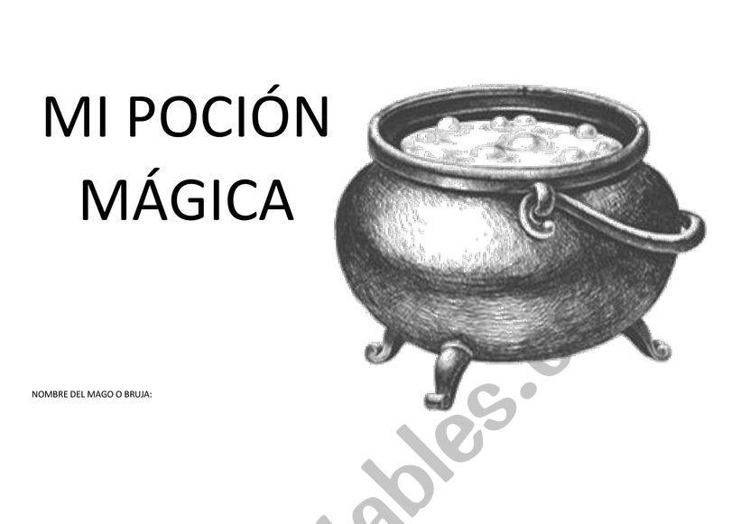INVENTA TU PÓCIMA worksheet