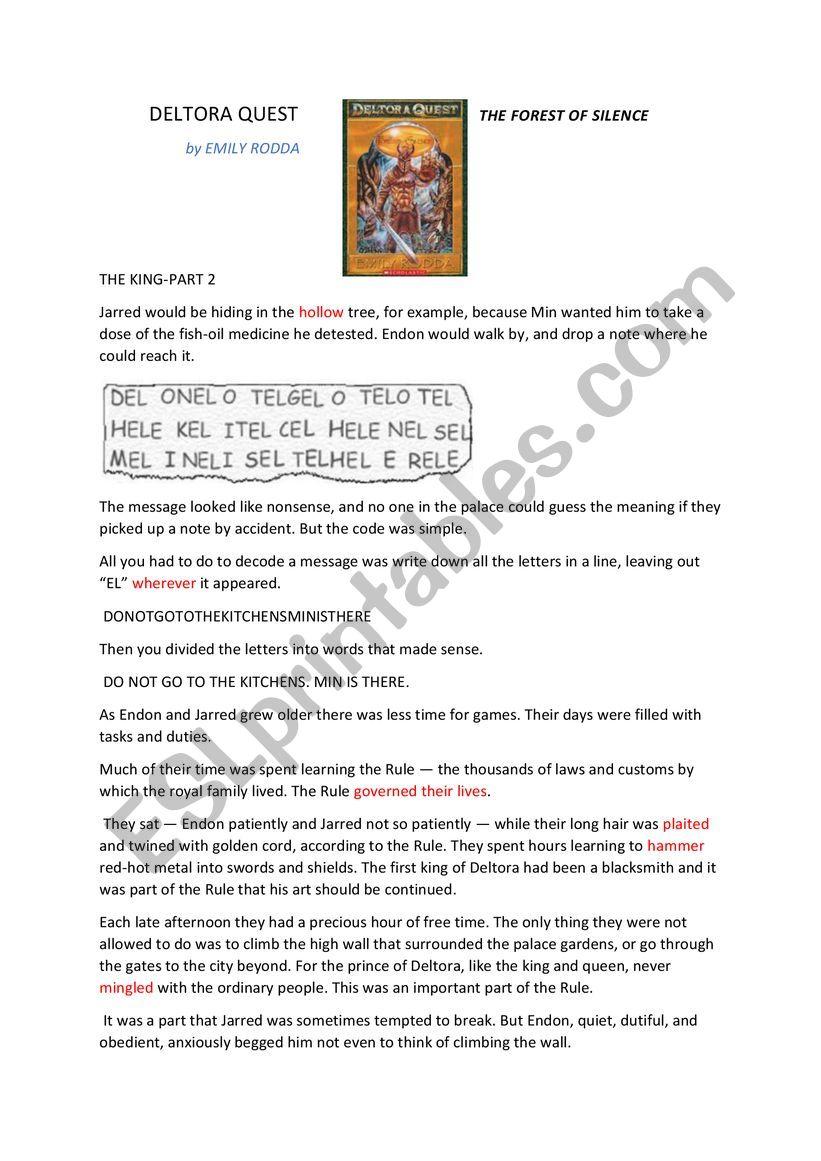 DELTORA QUEST READING PASSAGE 2