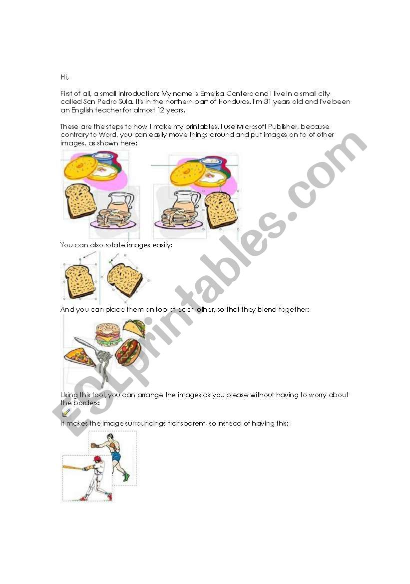Printable Making Tutorial worksheet