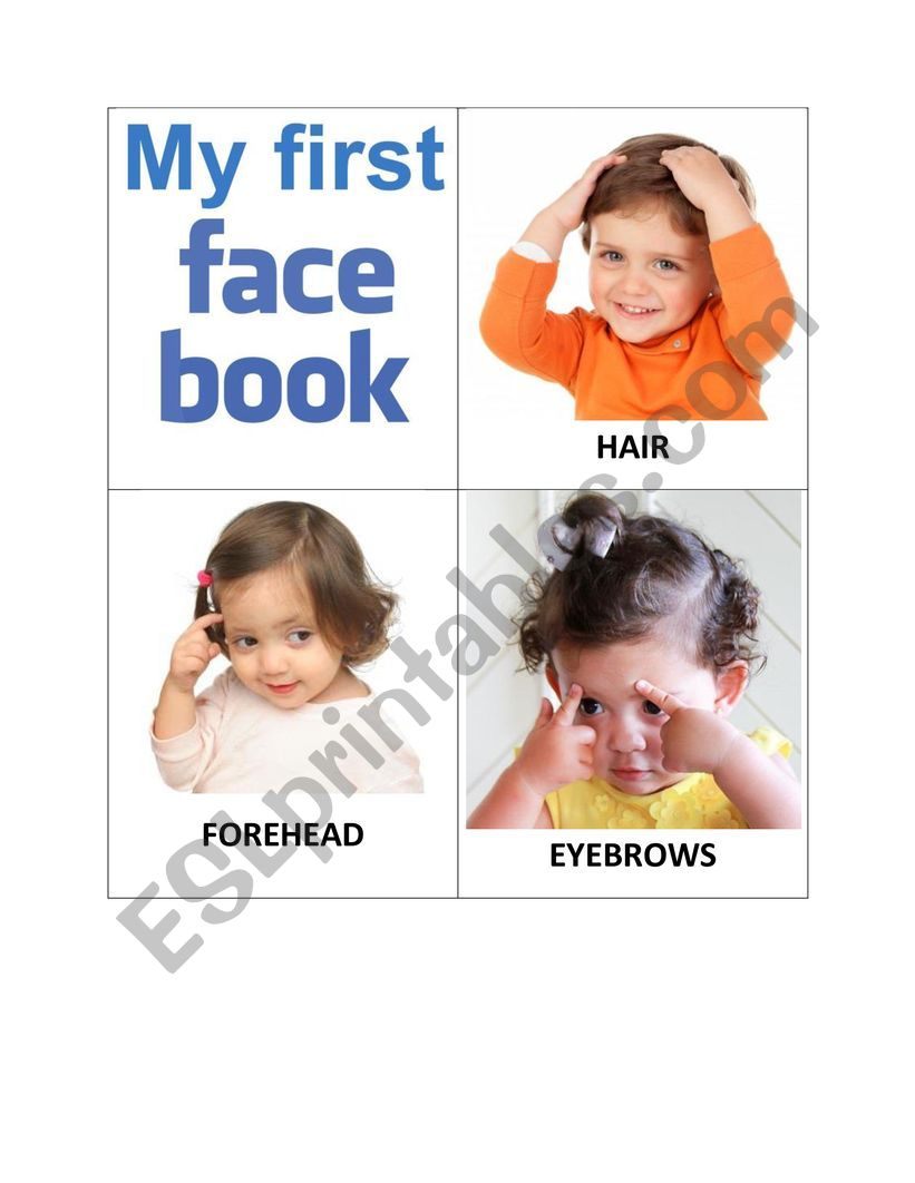 My First FACE Book worksheet