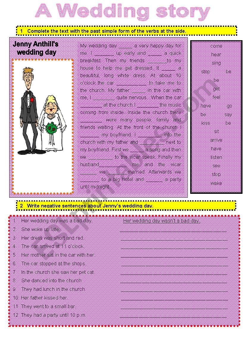 A WEDDING STORY worksheet
