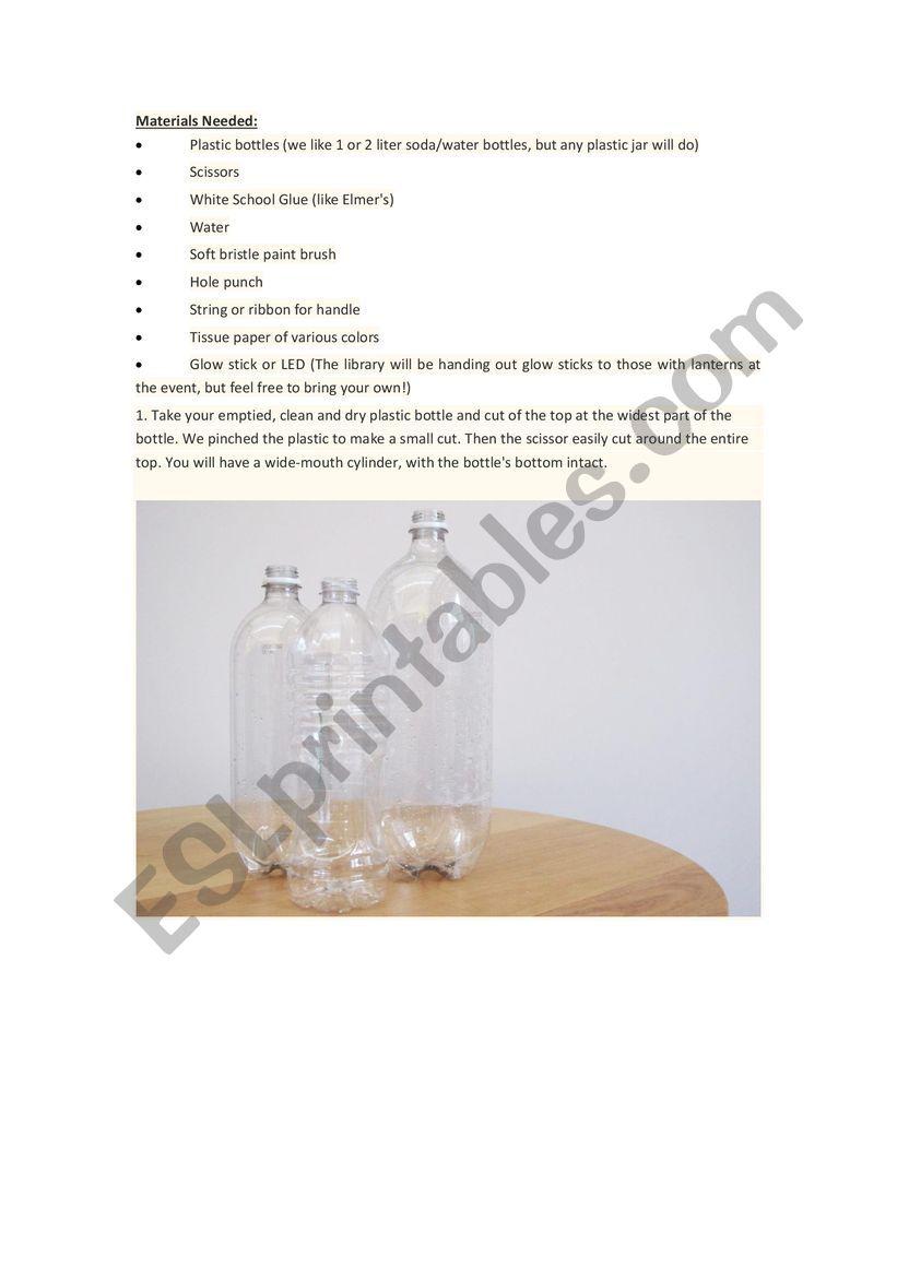 lantern worksheet
