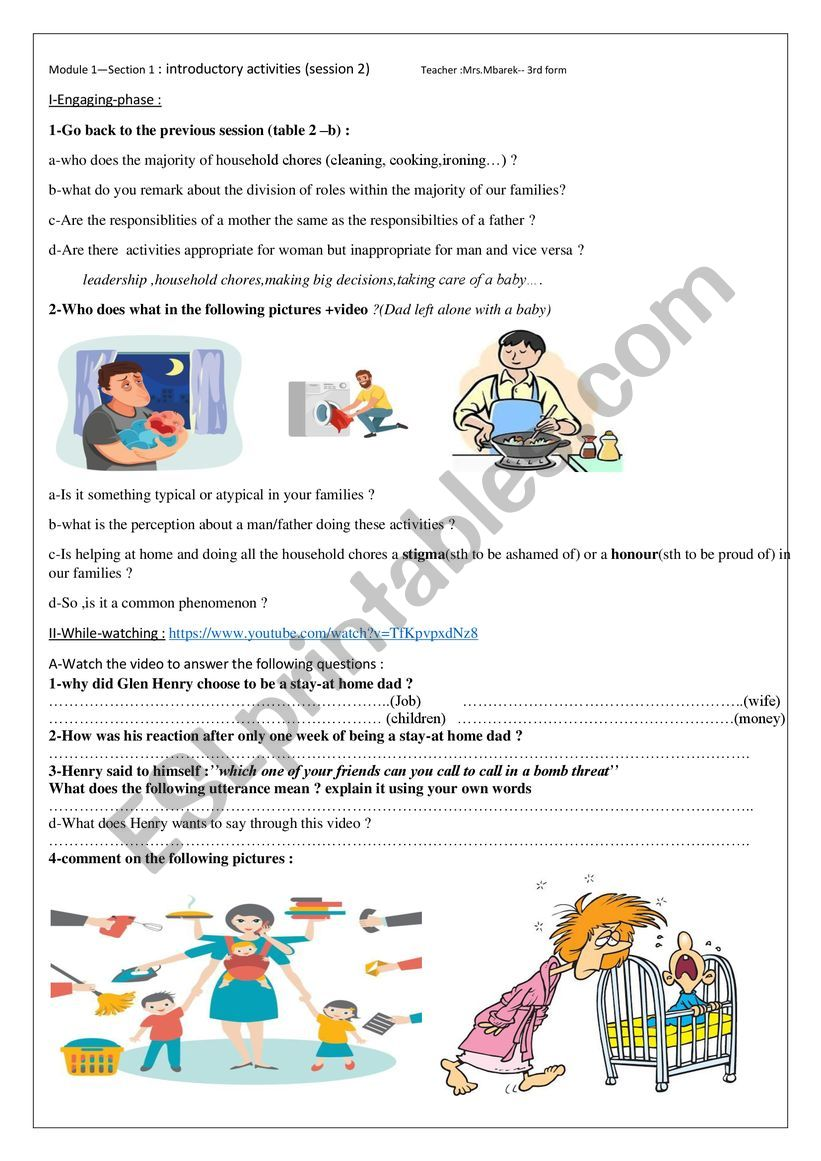 module 1 section 1 session 2 worksheet