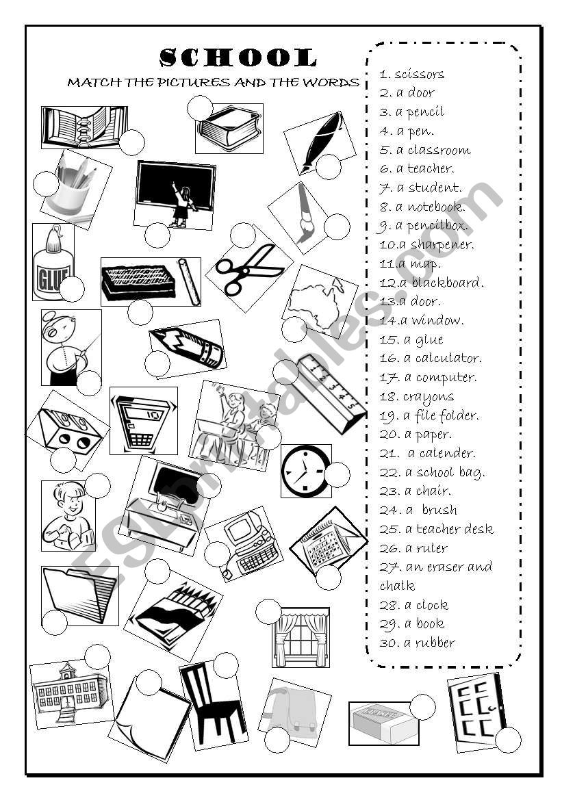 SCHOOL OBJECTS , CLASSROOM OBJECTS