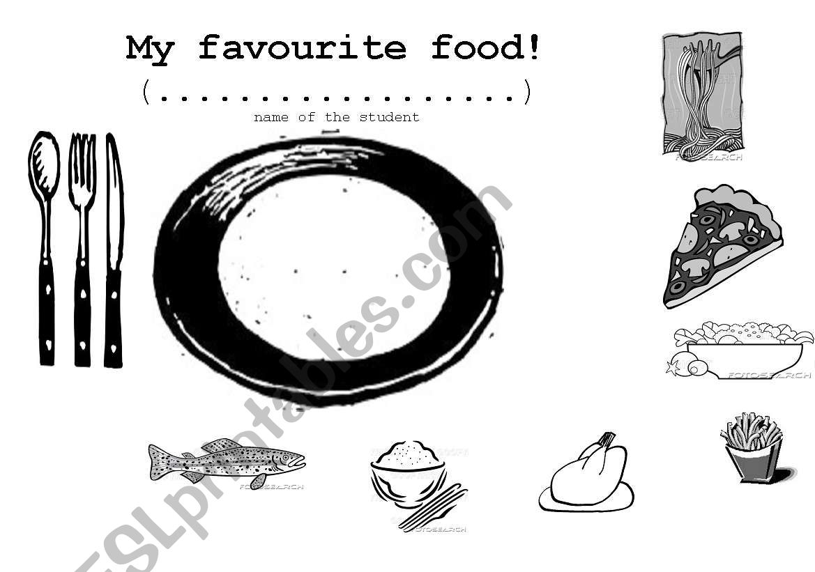 My favourite food! worksheet