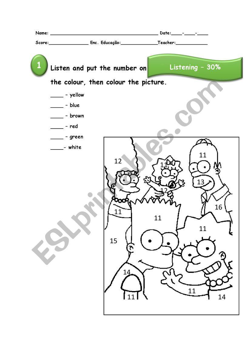 Test Family NEE worksheet