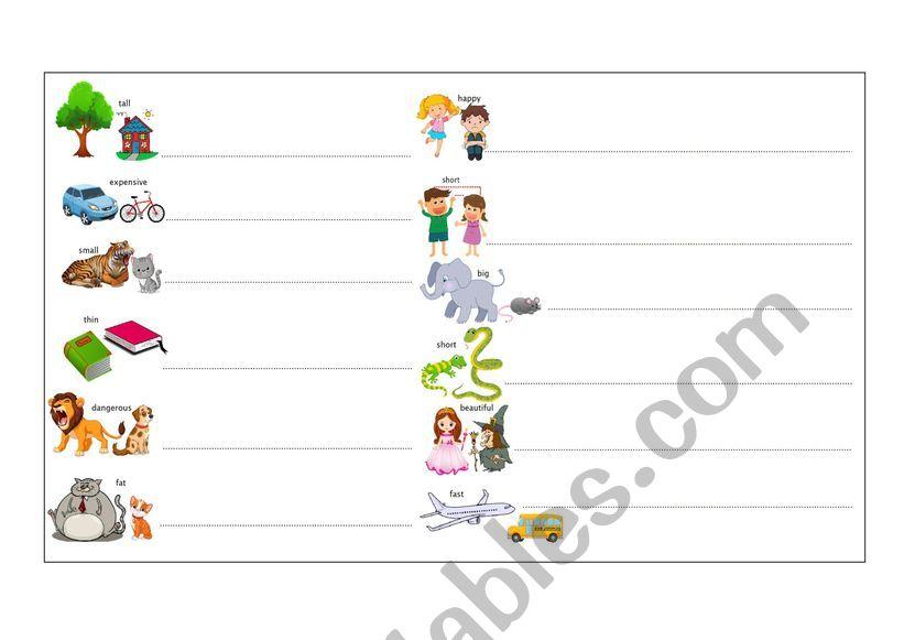Comparatives worksheet
