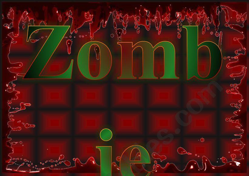 Zombie Box Label worksheet