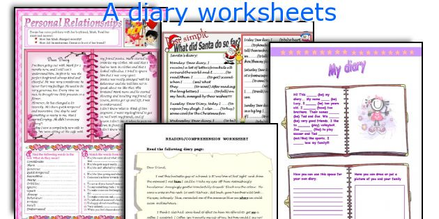 A diary worksheets