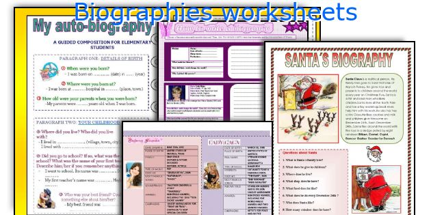 Biographies worksheets