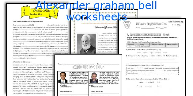 high frequency word assessment for story &quot-Alexander Graham Bell ...