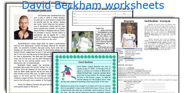 English teaching worksheets: David Beckham