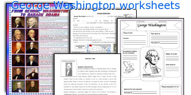 English teaching worksheets: George Washington