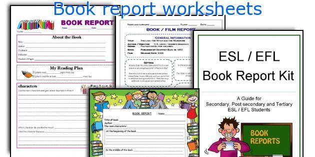 Book report worksheets