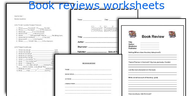 Book Reviews Worksheets