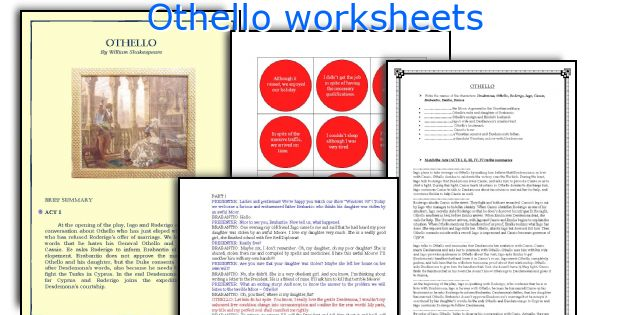 othello readings Othello, the moor of venice is a tragedy by william shakespeare based on the short story moor of venice by cinthio, believed to have been written in approximately.