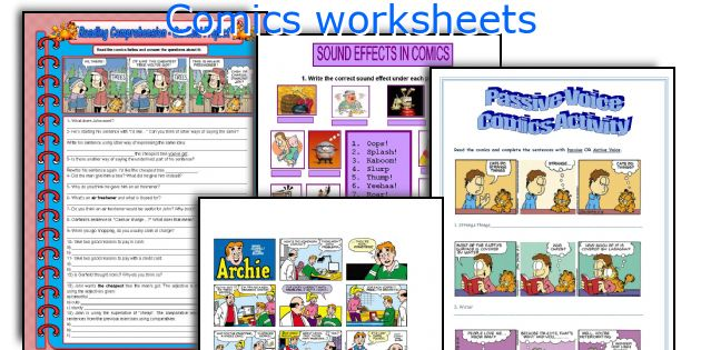 Comics worksheets