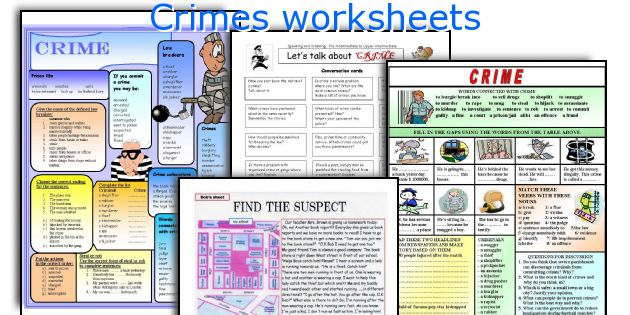 Crimes worksheets