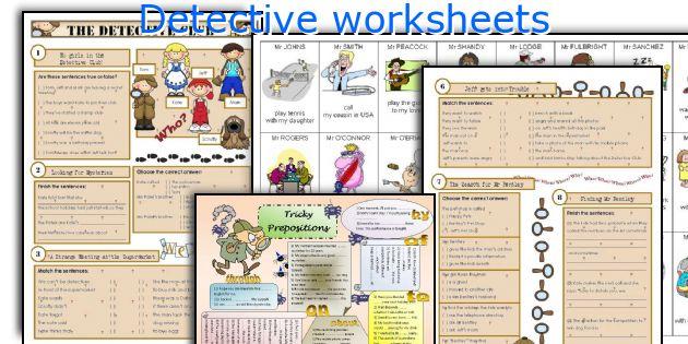 Detective worksheets