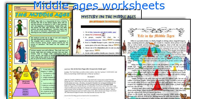 Middle ages worksheets