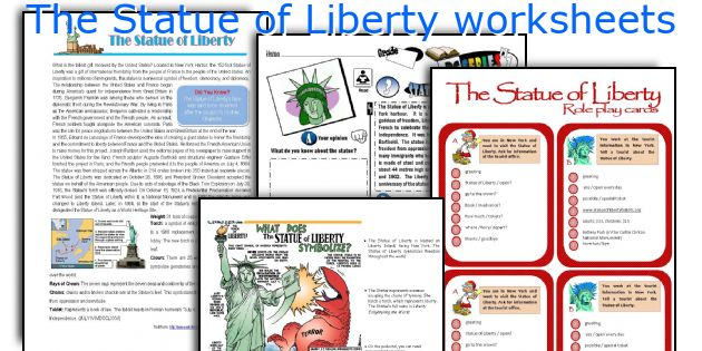 The Statue of Liberty worksheets