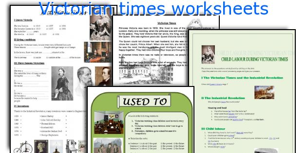 Victorian times worksheets