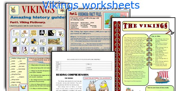 Vikings worksheets