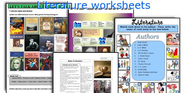 Literature worksheets