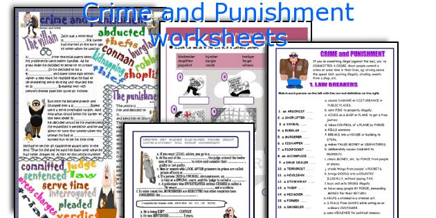 Crime and Punishment worksheets