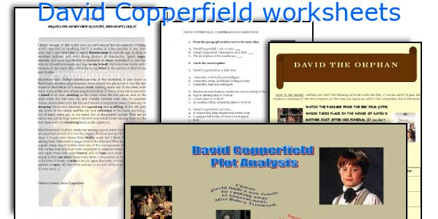 english teaching worksheets david copperfield