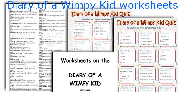 English teaching worksheets Diary of a Wimpy Kid – Diary of a Wimpy Kid Worksheets