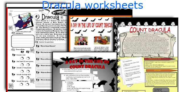 English teaching worksheets: Dracula