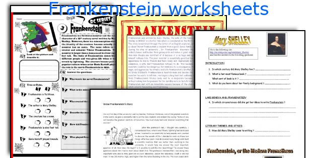 English teaching worksheets Frankenstein – Frankenstein Worksheets