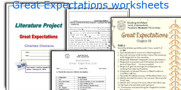 great expectations vocabulary Great expectations, the classic novel by charles dickens, is the life story of pip -- his struggles with poverty, his adventures, and the loves of his life (etext found here) learn these word lists for the novel: volume 1, volume 2, volume 3.