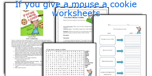 if you give a mouse a cookie worksheets. Black Bedroom Furniture Sets. Home Design Ideas
