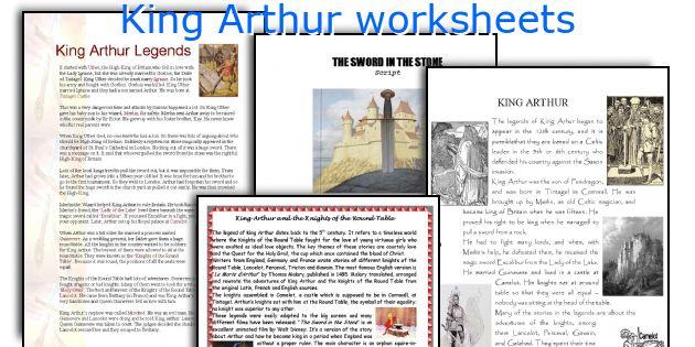 King Arthur worksheets